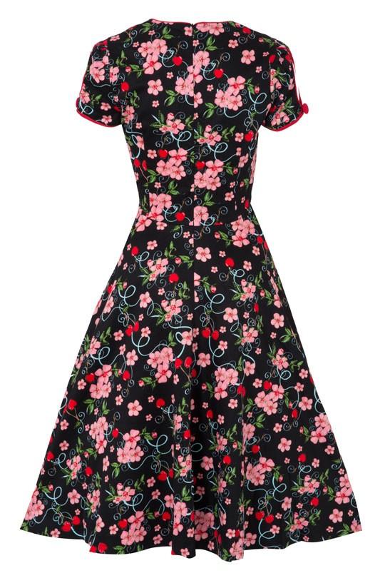 sugarshock cherry blossom 50er jahre kirschen swing kleid. Black Bedroom Furniture Sets. Home Design Ideas