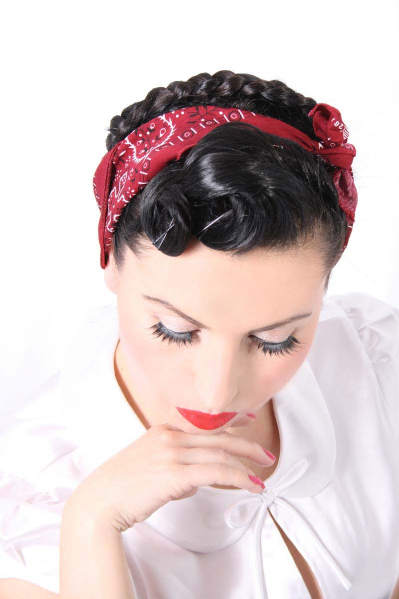 paisley bandana nickituch rockabilly haar hals tuch im 50s. Black Bedroom Furniture Sets. Home Design Ideas
