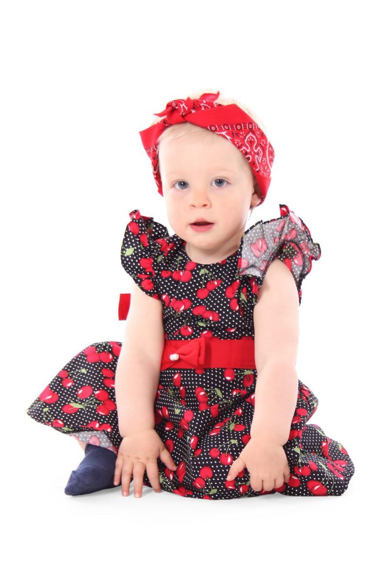 5765e515d6be37 SugarShock Maila 50s Kirschen Polka Dots Cherry Kinder Mädchen ...