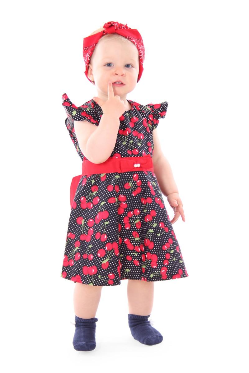 Sugarshock maila 50s cherries polka dots cherry children for Vintage kleider kinder