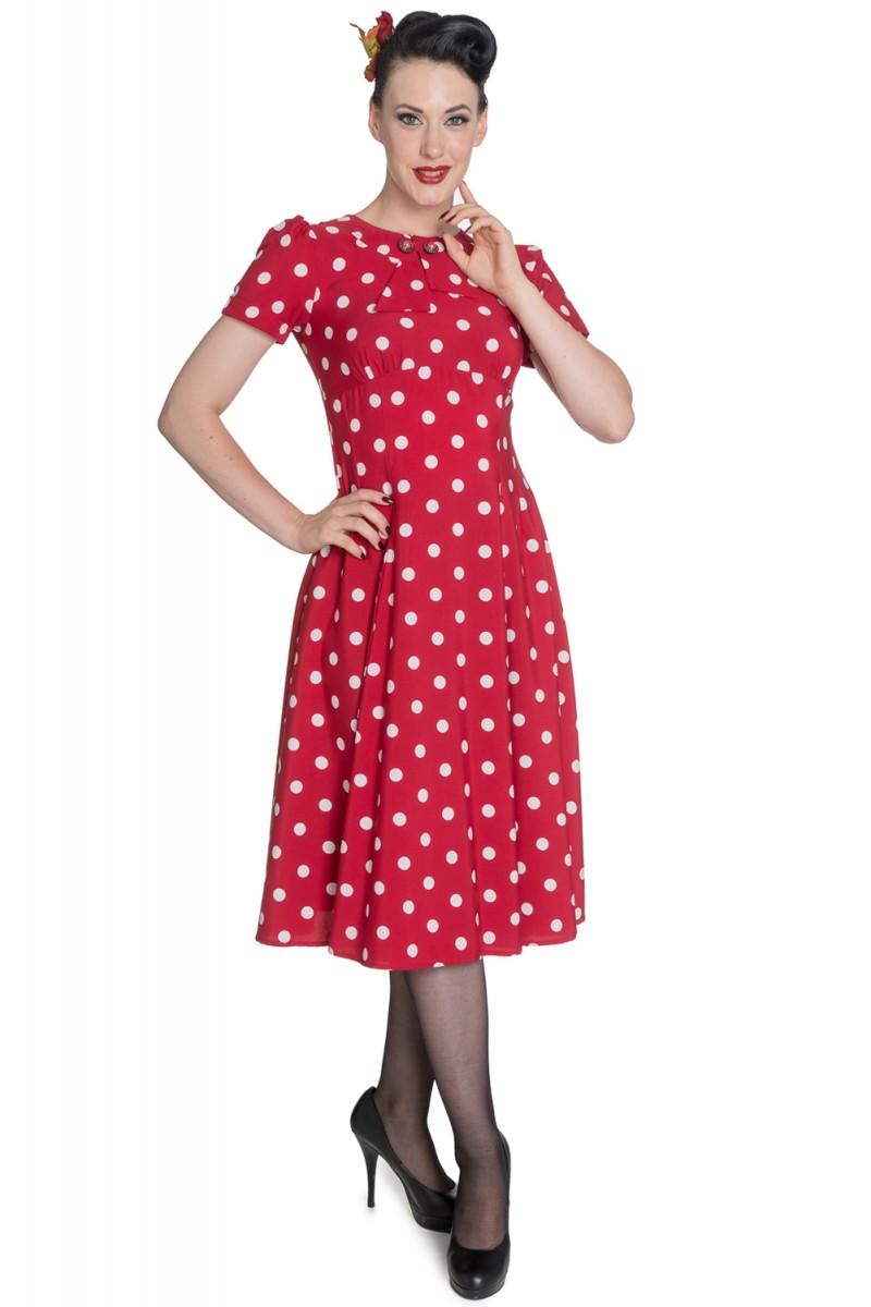 hell bunny madden 40er jahre retro polka dots kleid rockabilly pin up ebay. Black Bedroom Furniture Sets. Home Design Ideas