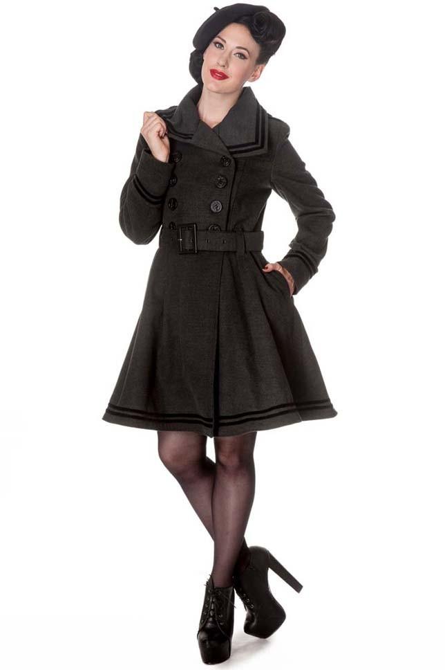 hell bunny new millie sailor matrosen winter mantel. Black Bedroom Furniture Sets. Home Design Ideas