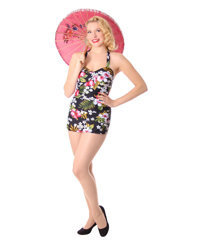 sugarshock liz 50er jahre retro hawaii pin up swimsuit rockabilly badeanzug ebay. Black Bedroom Furniture Sets. Home Design Ideas