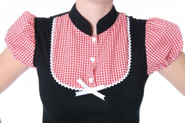 ALINA Pin Up retro Gingham T-Shirt v. SugarShock – Bild 2