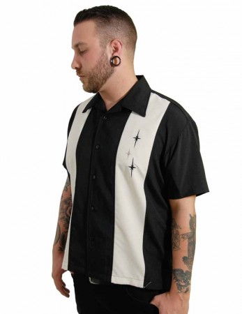 ST. PIERRE 3 Star Panel Loungeshirt Casino Shirt  – Bild 3